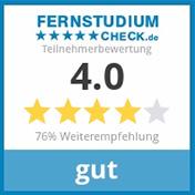 Bewertungssiegel von fernstudiumcheck.de