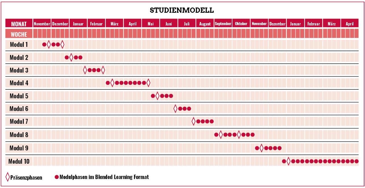 Studienverlauf im Blockmodell